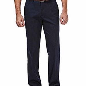 Nwt- Mens Haggar classic flat front khaki pants